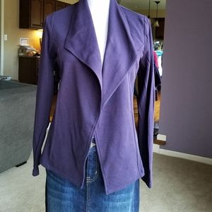 Style & Co Purple Draped Jacket NWOT